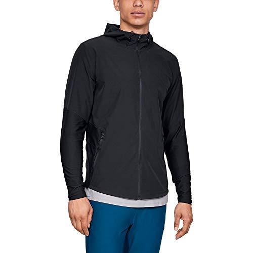 Under Armour Men's Vanish Hybrid Jacket Warm-up Top, Black/Steel, X-Small