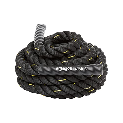 Amazon Basics - Cuerda de batalla para entrenamiento pesado, de 3,8 cm...