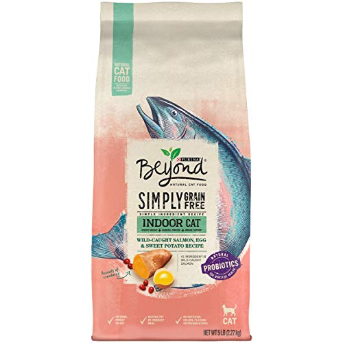 Purina Beyond Grain Free, Natural Dry Cat Food, Simply Indoor Salmon, Egg & Sweet Potato Recipe - 5 lb. Bag