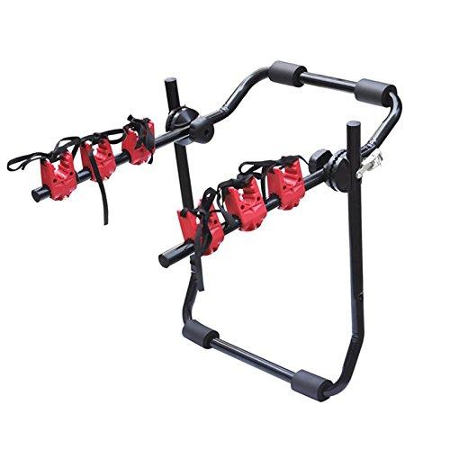 WOLTU FZ1121+EZT-1121 Portabici Posteriore Auto Supporto Bike in Metallo per 3 Bici 65x60x50cm
