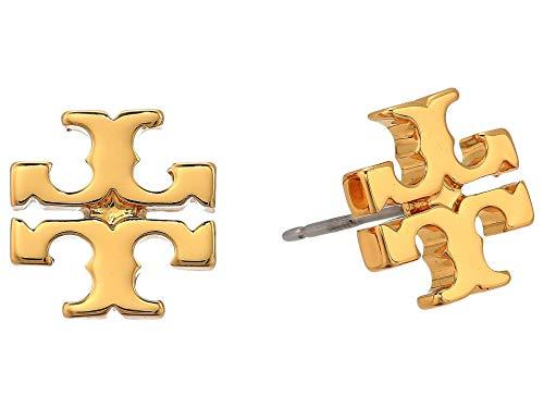 41prHnijMmL Polished Gold Plated Brass Post backs Signature Logo