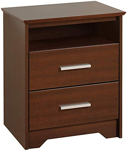 MODWAY Sheesham Wood Bedside End Table with Drawers for Living Room