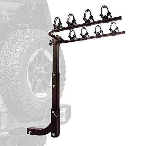 ZEMANOR Hitch Mount Bike Rack Bicycle Carrier for Cars Trucks SUV's and Minivans with Hitch Pin Lock Super Strong All - Steel Bike Frame (4 Bike Rack)