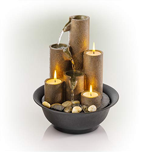 Alpine Corporation WCT202 Tiered Column Tabletop Fountain w/...
