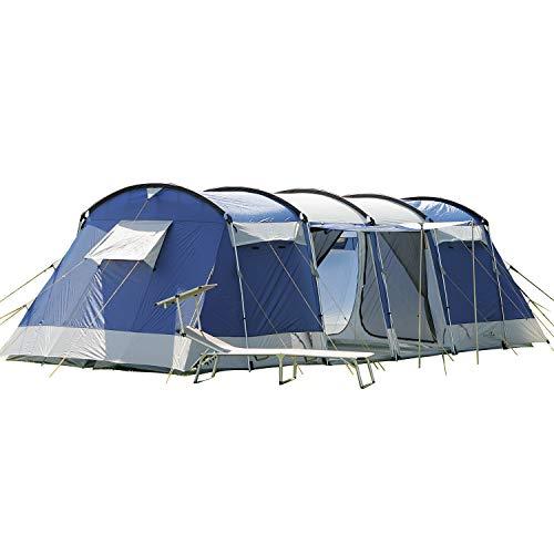 skandika Montana 8 - Tente de Camping Familiale Tunnel - 700 x 310 cm - 8...