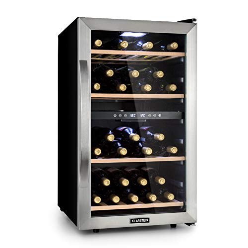 KLARSTEIN Vinamour - Cantinetta Vini, Frigorifero Vino, Classe A, 2 Zone di Raffreddamento,...