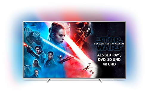Philips Ambilight 70PUS7304/12 Fernseher 178 cm (70 Zoll) Smart TV (4K, LED TV, HDR 10+, Android TV, Google Assistant, Alexa kompatibel, Dolby Atmos) Hellsilber