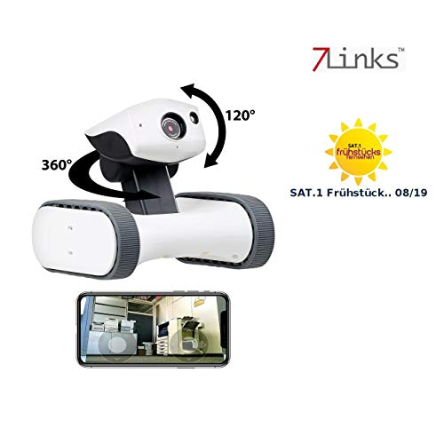 7links Roboter: Home Security Rover convideo HD, visione notturna IR, monitorabile in tutto il mondo...