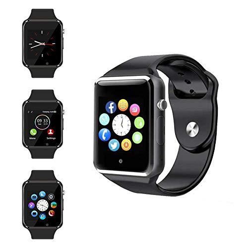 Smart Watch, Reloj Deportivo Smart Watch Fitness Tracker con podómetro Sleep Analysis Pantalla táctil de 1,54 Pulgadas, cámara, SMS Facebook Vibrador Compatible con teléfono Android (MQ-A1)
