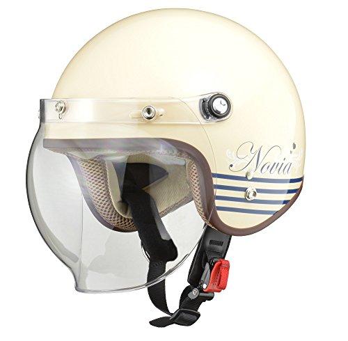 リード工業(LEAD) バイク用ジェットヘルメット NOVIA(ノービア) レターアイボリー レディースフリー(55-57cm未満) NOVIA