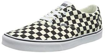 Vans Men's Doheny Sneaker, Multicolour Checkerboard Black Classic White Ib8, 10 UK