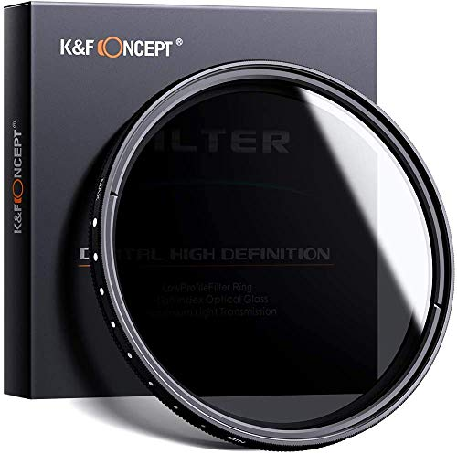 K&F Concept 58mm ND Fader Variable Neutral Density Adjustable ND...