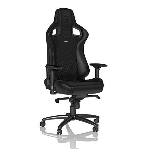 noblechairs Epic Chaise de Gaming - Chaise de Bureau - Cuir Véritable - Noir