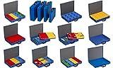 Allit EuroPlus - Maletín para piezas (chapa de acero, 44/1 x 63, vacío, cierre hermético), color azul