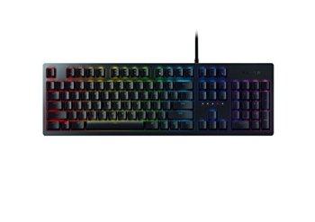 Razer Huntsman - Clavier Gaming Mécanique avec Touche Opto-Mécanique Razer (Barre d'Assise de Touche, Mémoire Hybride Intégrée, RGB Chroma Eclairage) - FR Layout