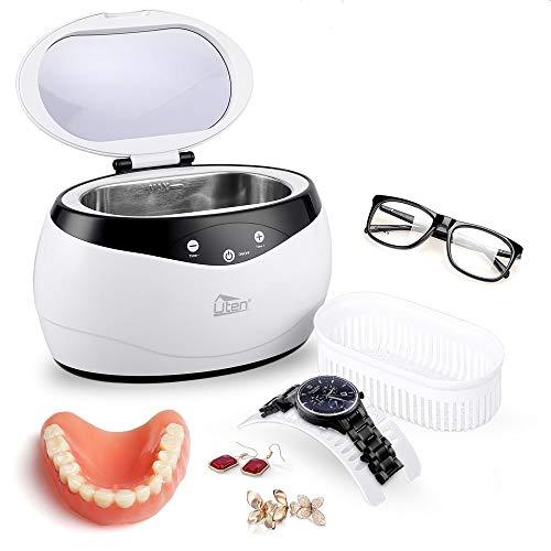Util Cleaner per Gioielli, 650mL Detergente per ultrasuoni Ultra Sonic con Serbatoio di Pulizia in...