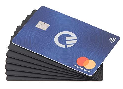 valonic Tarjeta bloqueadora de RFID | Extra Fina | 6 x Blocker Card | Protection NFC RFID | Slim | Card Protector Anti RFID | Negra