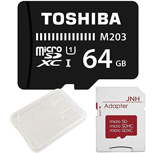 東芝 Toshiba 超高速U1 microSDXC 64GB + SDアダプター + 保管用クリアケース バルク品