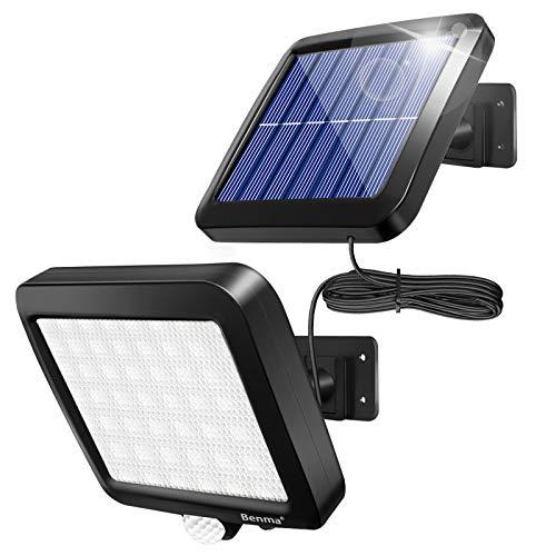Benma Lampade solari da esterni, luci solari, Lampade da parete per esterni, luci solari da giardino con sensore di movimento, angolo di illuminazione 120, 5 m, [Classe energetica A+++]