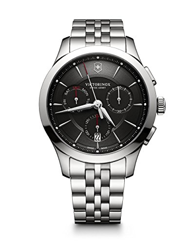 Victorinox Herren Chronograph Quarz Uhr mit Edelstahl Armband 241745