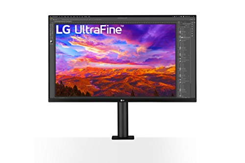 """LG UltraFine 32UN88A-W 32"""", Moniteur ERGO IPS UHD 4K (3840x2160, HDR10, Pied ergonomique DCI-P3 95%, USB-C, USB 3.0, 5 ms, HDMI, DisplayPort, Hauts Parleurs, FreeSync, Ajustable Hauteur, Pivotable)"""