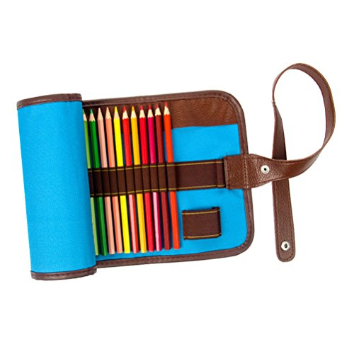 NUOLUX Rollup Astuccio Matite Colorate Wrap caso titolare tela borsa di stoccaggio Organizer con...