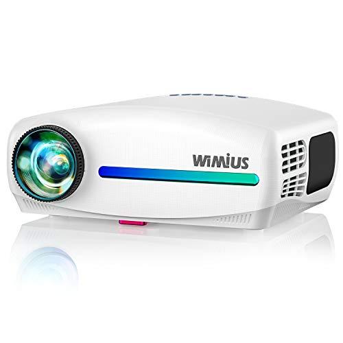 Proiettore,WiMiUS 7000 Lumen Videoproiettore Nativa 1920 x 1080P LED Full HD Supporto 4K Videoproiettore 4D Keystone...
