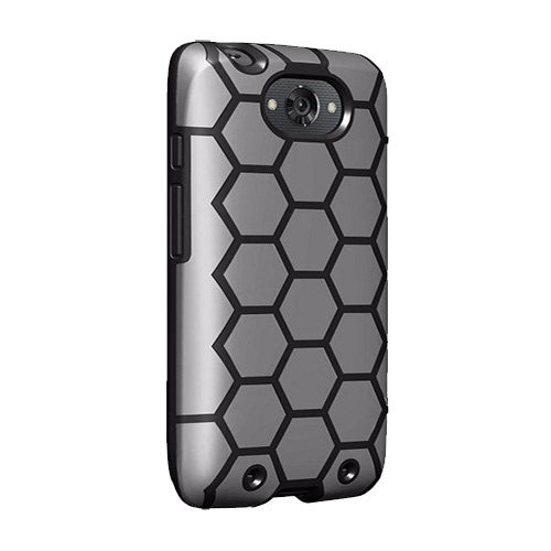 Verizon Geometric Case for Motorola Droid Turbo - Black and Gray