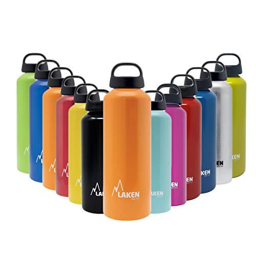 Laken Unisex - Adulto Classic Alluminio Arancio 600 ml BPA Free Alluminio Bottiglia PBA