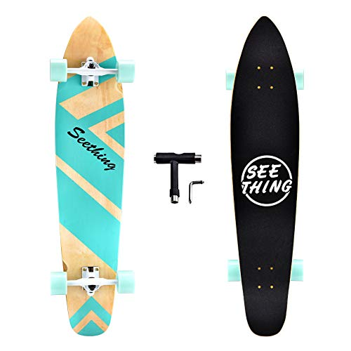 seething 42 Inch Longboard Skateboard Complete Cruiser Pintail,The Original Artisan...