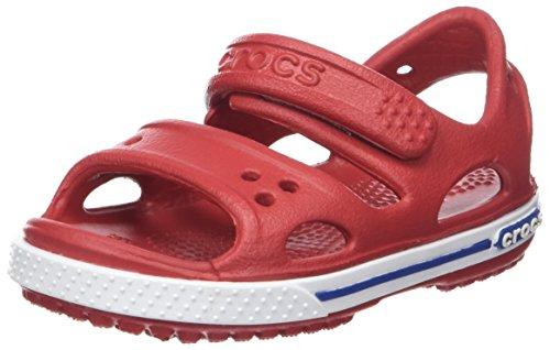 Crocs Crocband II Sandal PS K, Sandalias Unisex Niños, Rojo (Pepper/Blue Jean), 24/25 EU