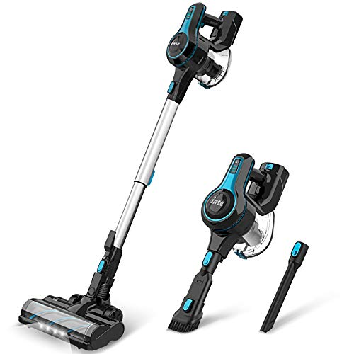 INSE Cordless Vacuum Cleaner 4 in 1 Powerful Suction Stick Vacuum Lightweight Quiet Rechargeable 1.2...