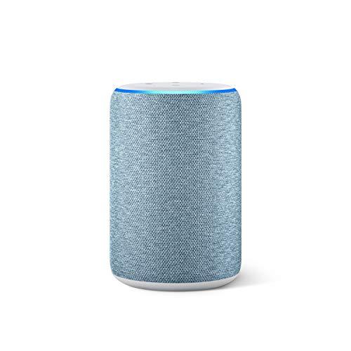 Nouvel Amazon Echo (3ème génération), Enceinte connectée avec Alexa, Tissu bleu gris