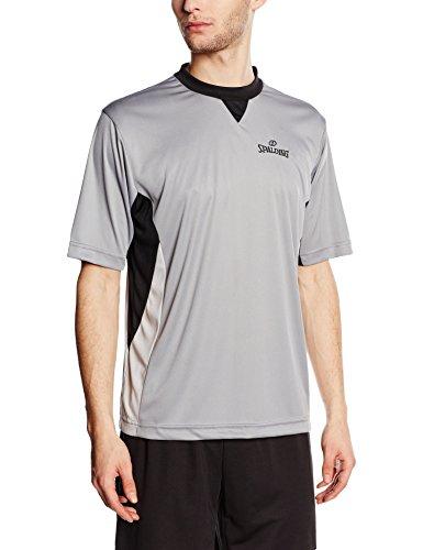 Spalding Referee Camiseta de Árbitro, Hombre, Gris/Negro/Plata, L