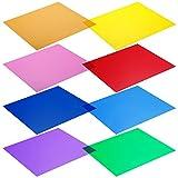 Neewer - Set di Filtri Gel trasparenti per la correzione del Colore per Luce Stroboscopica da Studio - 30x30cm 8pz - colori Rosso, Giallo, Arancione, Verde, Viola, Rosa, Blu Chiaro, Blu Scuro
