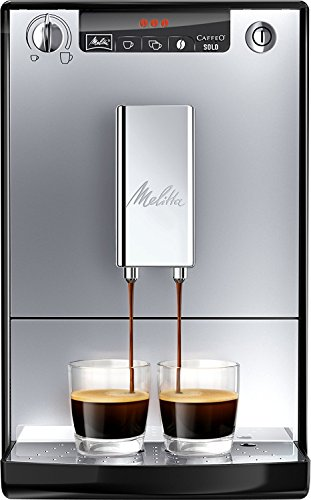 Melitta Caffeo Solo, Argent, E950-103, Machine à Café et Expresso Automatique avec Broyeur à Grains