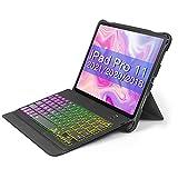 Inateck iPad Pro 11 キーボードケース 第1、2、3世代対応、DIYバックライト付き、分離式、KB02005