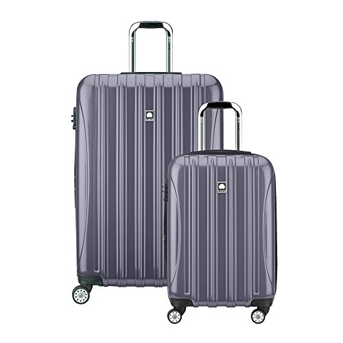 Delsey Luggage Helium Aero Spinner Luggage Set (21'/29'), Titanium