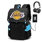 YDYL-LI Mochila De Baloncesto # LOS ÁNGELES Lakers Bolsa DE Escuela PORTÁTIL Bolsa DE Viaje Bolsa DE Viaje DE Viaje Bolsa DE Sport para EL NIÑO DE LOS PERSONOS,Azul