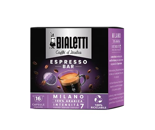 Bialetti Caffè d'Italia Milano (Gusto Morbido) - Box 16 Capsule