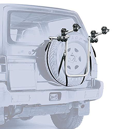 Peruzzo PE 310 Portabici per Auto 4x4 per Ruota di scorta Esterna, Nero, Taglia Unica