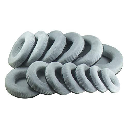Cocose 60mm 70mm 110mm 120mm グレーベルベット交換用フォームイヤーパッドクッションFoam Ear Pads Cushi...