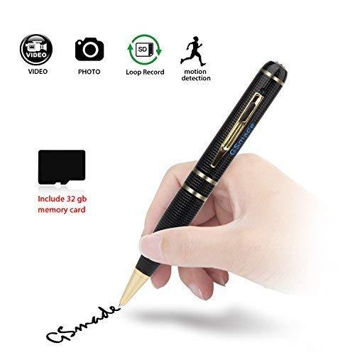 Spy Pen Hidden Camera - Full HD 2K Spy Pen Camera 32GB...
