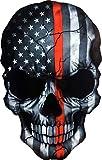 OTA STICKER Skull Skeleton Devil Ghost Monster Zombie American Flag Subdued Thin RED LINE USA Military Soldier Ranger Firefighters Rock Metal Heavy Decal Laptop CAR Window Door Wall Motorcycle Helmet