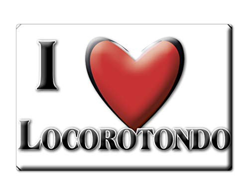 Enjoymagnets LOCOROTONDO CALAMITA Magnete Puglia (BA) Italia Fridge Magnet Souvenir I Love (VAR. Normal)