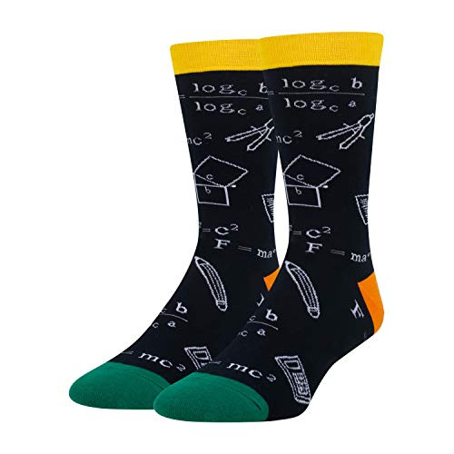 HAPPYPOP Math Socks for Men Funny Teacher Nerd Genius Socks,...