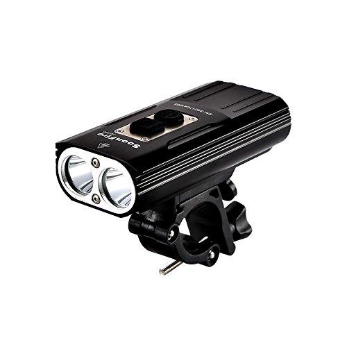 Soonfire FD38S faro per bicifaretto luce per bici ricaricabile via USB Super Luminoso2 * CREE XM-L2 LED 1870 lumen con una portata effettiva di 167 Mimpermeabilesemplice montaggio e smontaggio