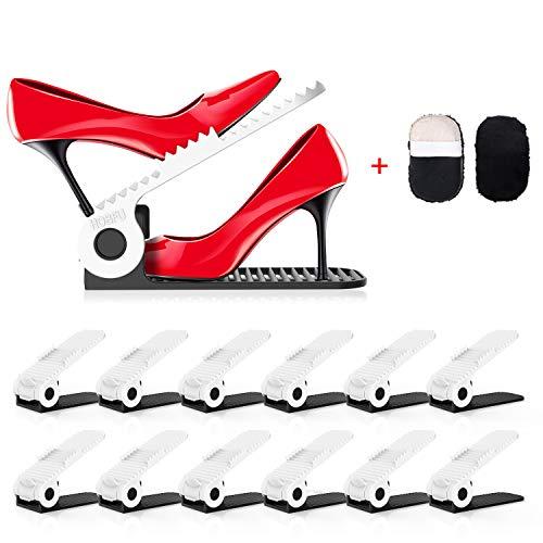 PREUP Organizador Zapatos Set de 12pcs Soporte de Calzado de...