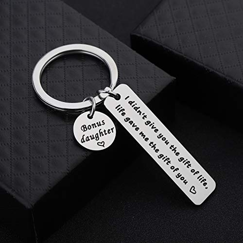 Stepson Keychain I Didn't Give You The Gift of Life Life Gave Me The Gift of You Key Ring Stepson Gifts Son in Law Gifts Adopted Son Gifts