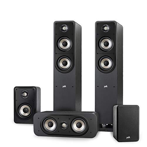 Polk Audio Signature E Series Lautsprecher Set 2 für Heimkino und Musik, schwarz